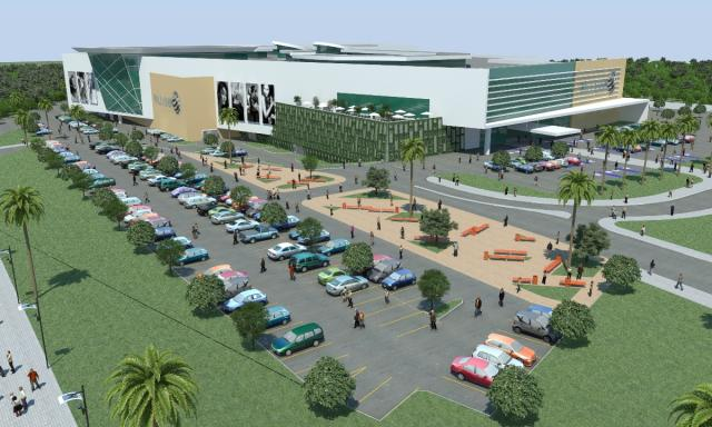 Ilustração do Palladium Shopping em construção em Foz do Iguaçu